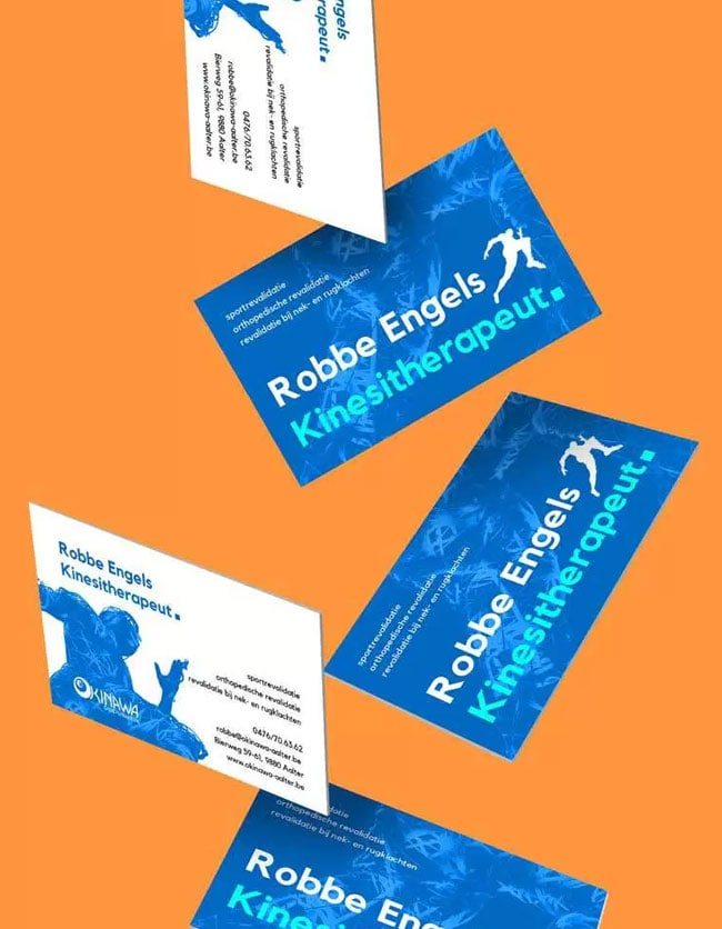 falling business cards design